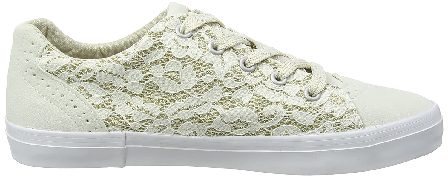 Extra Wide Glitter Lace, Zapatillas para Mujer, Marfil (Ivory 97), 40 EU EVANS