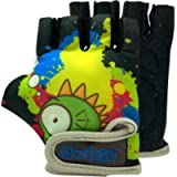 Kids Bike Gloves for Balanced Bike Mountain Bicycle Biking I Breathable Fingerless Toddler Kids Cycling Gloves with…
