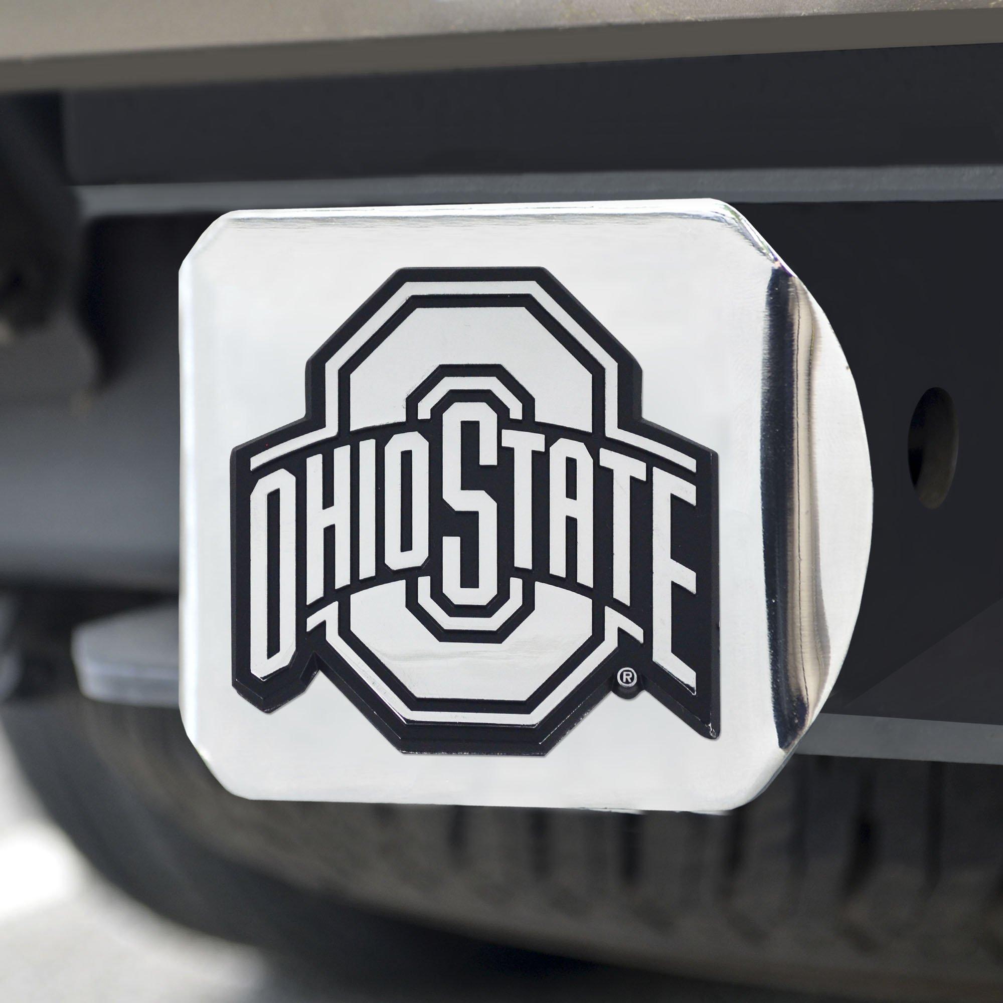 FANMATS NCAA Ohio State University Buckeyes Chrome Hitch Cover