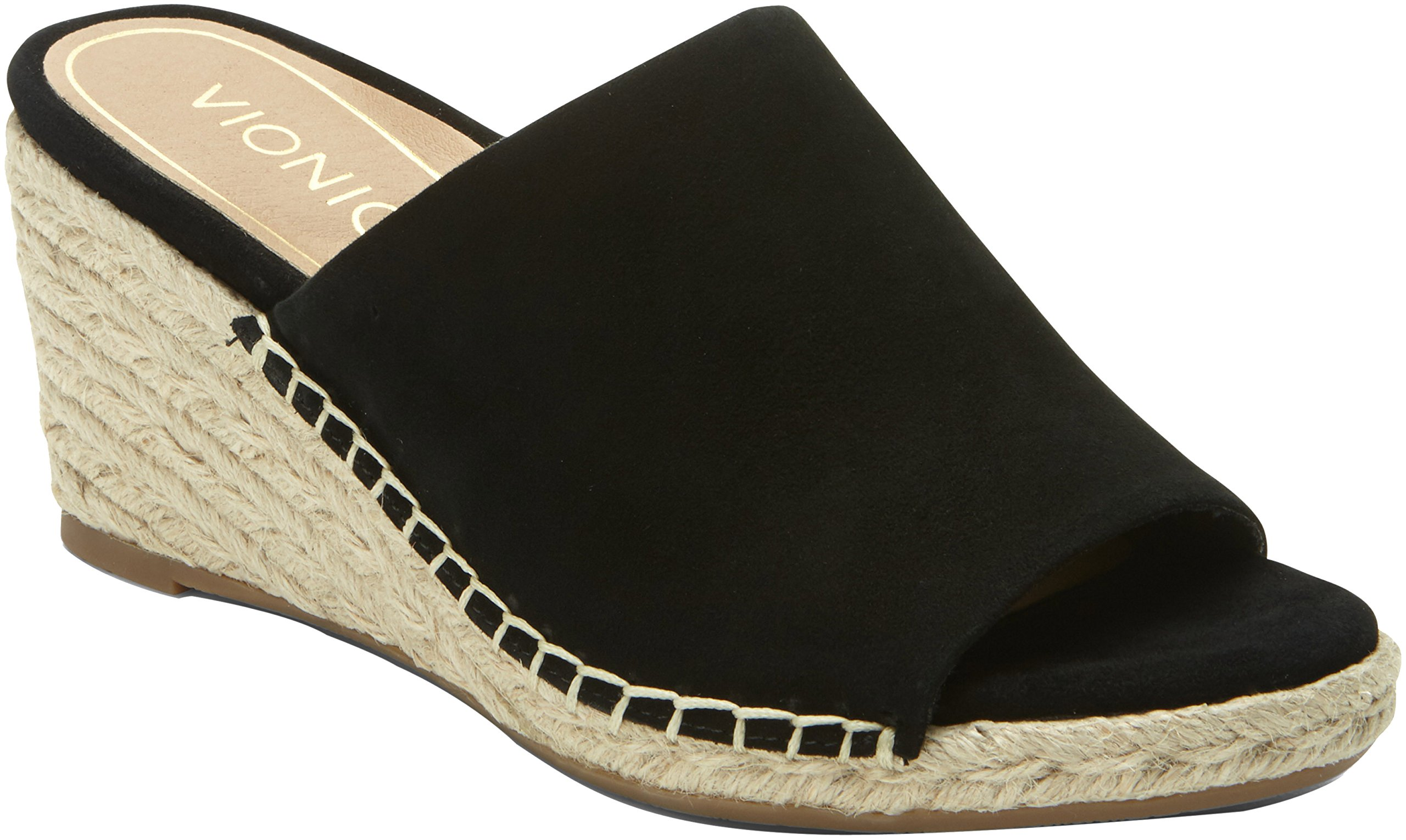 Vionic Tulum Kadyn - Womens Wedge Slip-On Sandal Black - 9 Medium