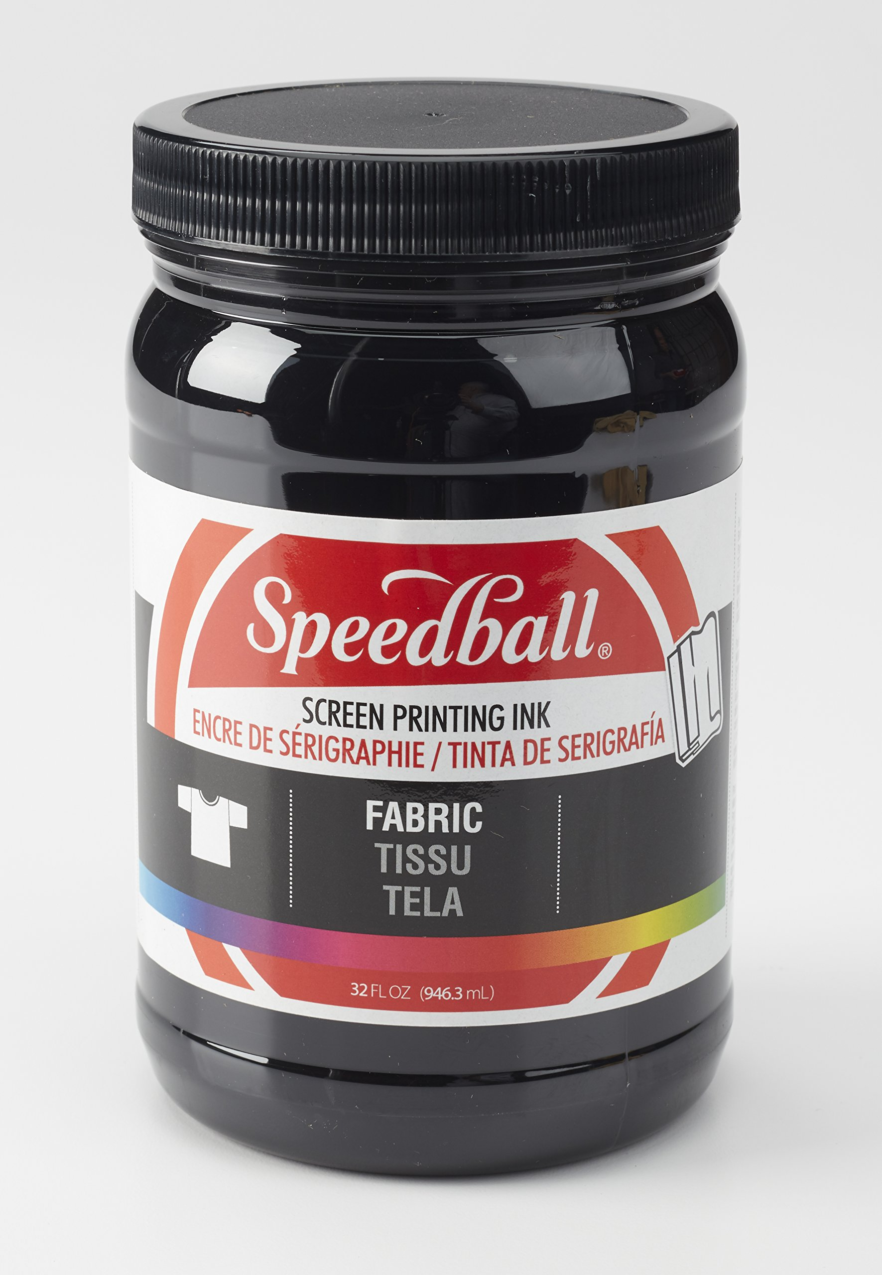 Speedball Fabric Screen Printing Ink, Black (4600) by Speedball