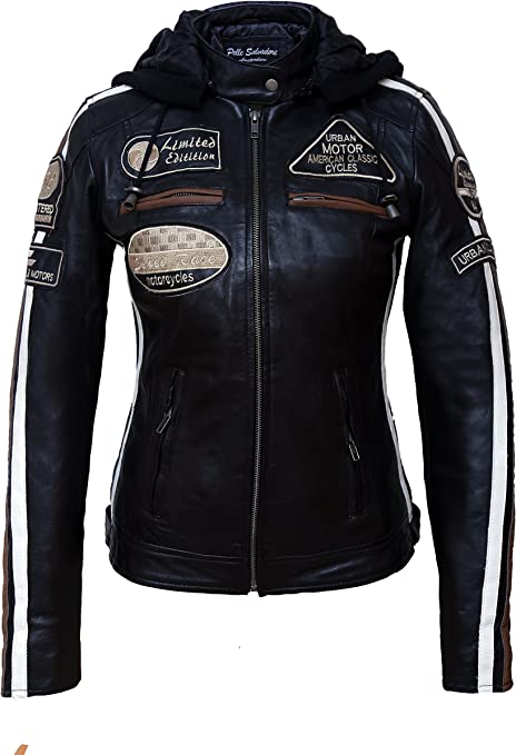 Urban Leather 58 Veste de Moto avec Protections Femme
