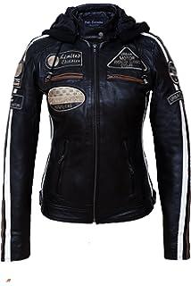 Veste en cuir femme moto