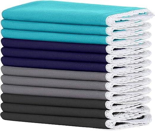 Sweet Needle - Servilletas de algodón (50 cm x 50 cm) – 100% fibra ...