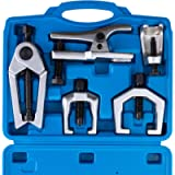 Orion Motor Tech 5pc Ball Joint Separator, Pitman Arm Puller, Tie Rod End Tool Set for Front End Service, Splitter…