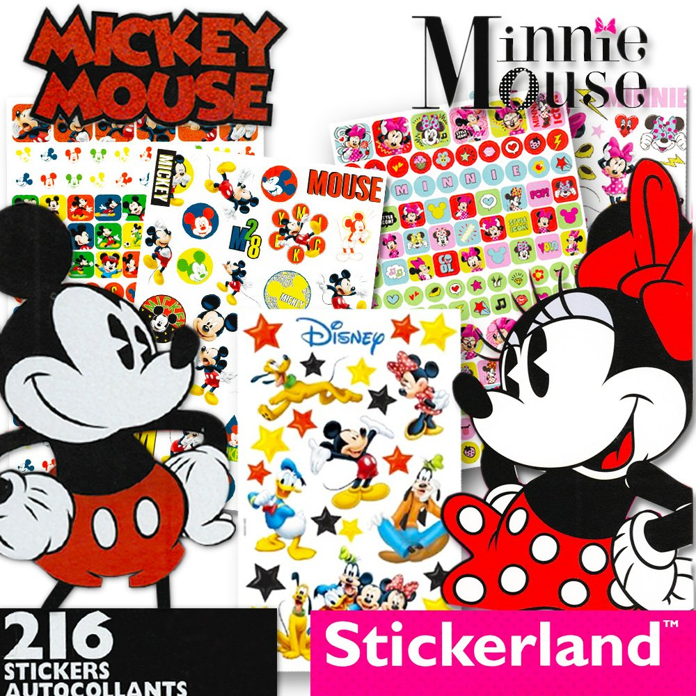 Disney Mickey Mouse Sticker Pad and Minnie Mouse Sticker Pad Set Over 400 Stickers total