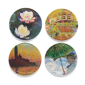Henry the Buttonsmith Monet Water Lilies Refrigerator Magnet Set