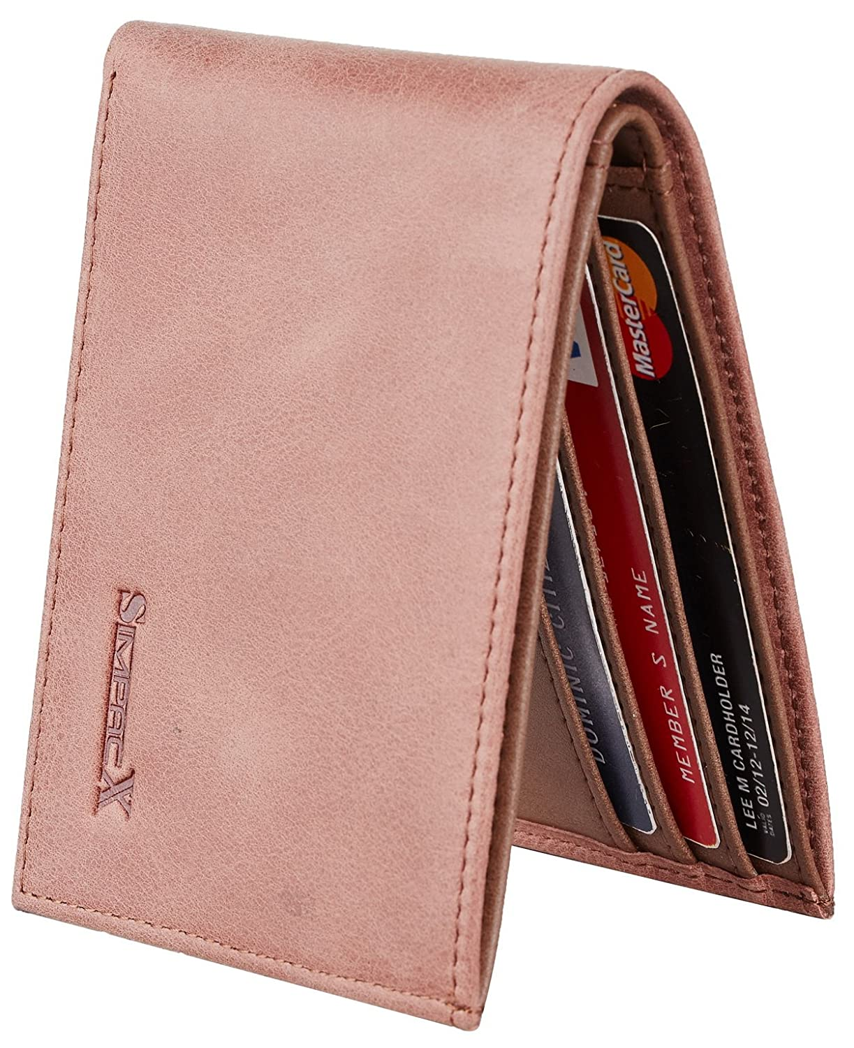 Chelmon Ultimate Slim Mini Wallet Front Pocket Minimalist Wallet Bifold Genuine Leather RFID Blocking tkc1301
