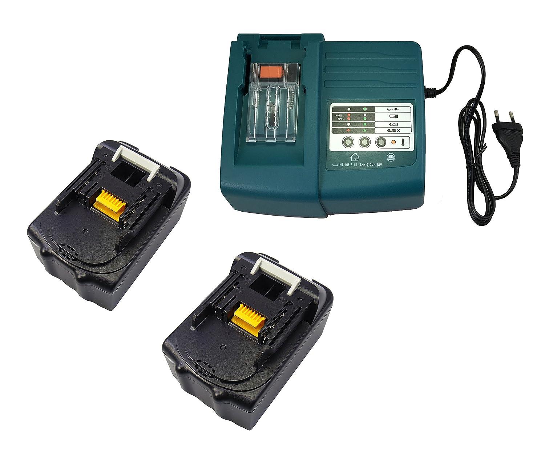 1pcs 1.5A Ladegeräte für Makita DC18RA DC18SC DC1803 DC1804 DC14SA mit 2pcs 18V 5.0Ah Ersetzen Makita Akku BL1850 BL1830 BL1840
