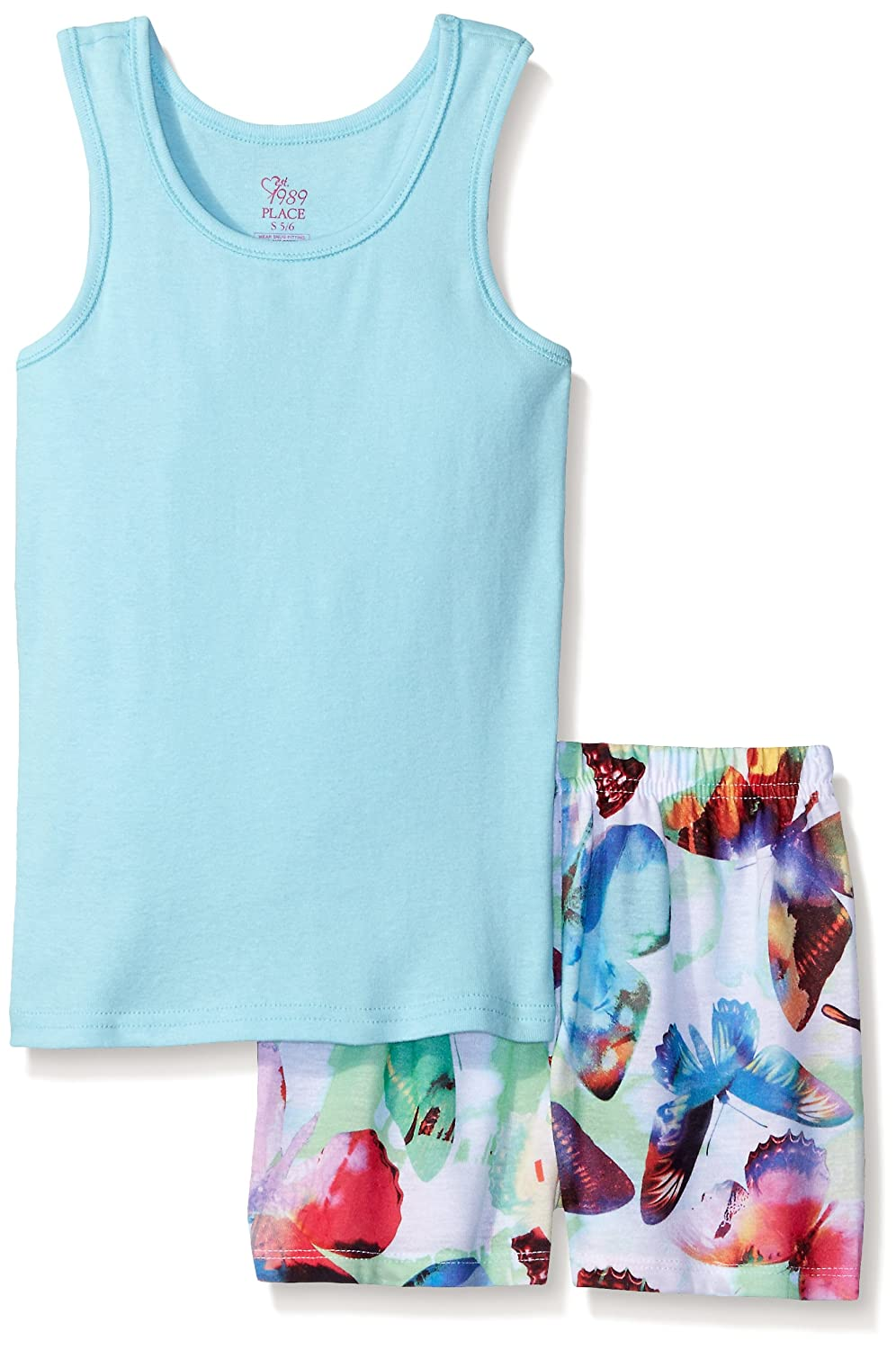 The Childrens Place Girls Top and Shorts Pajama Set