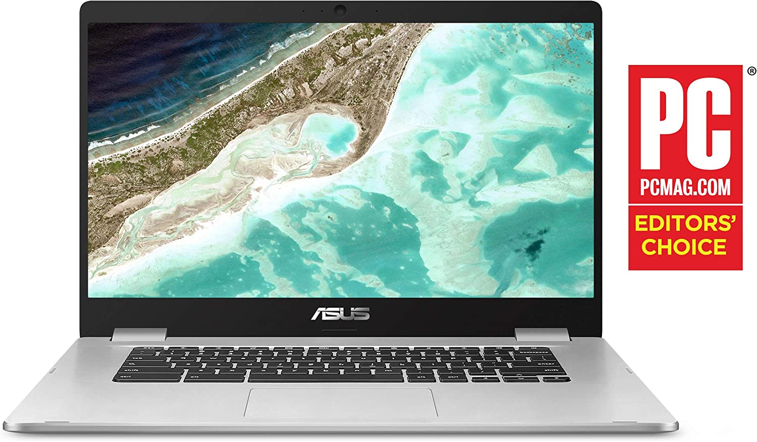 "ASUS Chromebook Laptop- 15.6"" HD Anti-Glare NanoEdge Display, Intel Dual Core Celeron N3350 Processor, 4GB RAM, 64GB eMMC, 180 Degree Hinge, Chrome OS- C523NA-BCLN6 Silver"