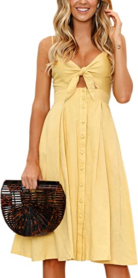 medium long beautiful yellow summer dress dresses