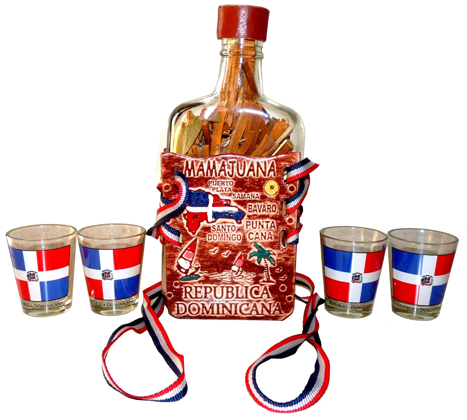 100% Authentic Dominican Republic Mamajuana 325ml Decorative Set