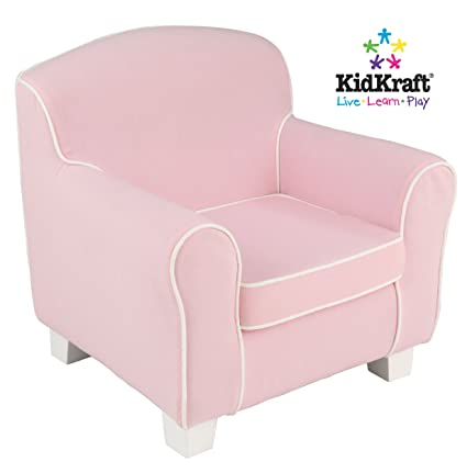 Attirant KidKraft Pink Chair With White Piping