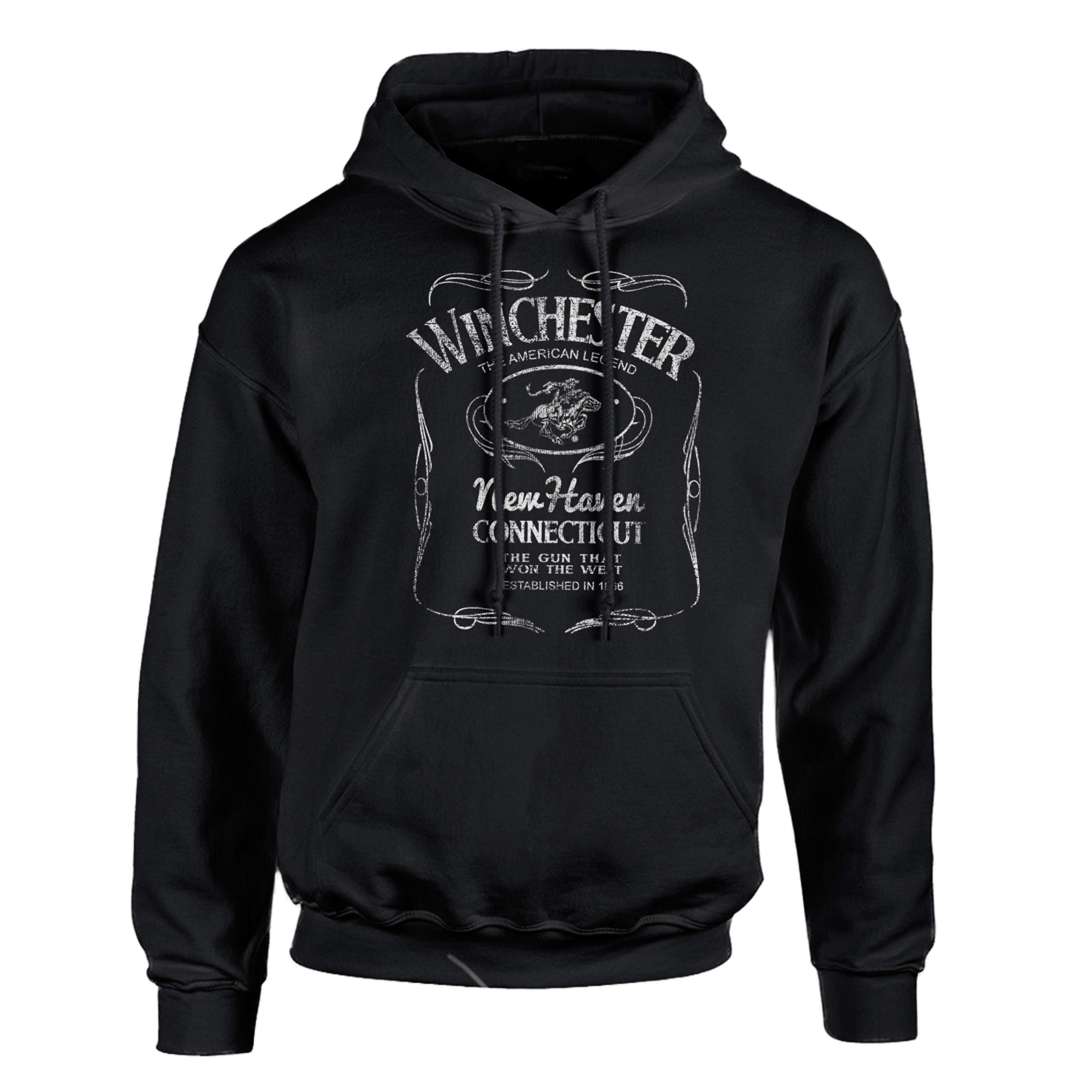 Winchester Western Poster Hoodie Pullover Fleece for Men - Sweatshirt, Gift, Cotton Poly Blend, Ultra Soft