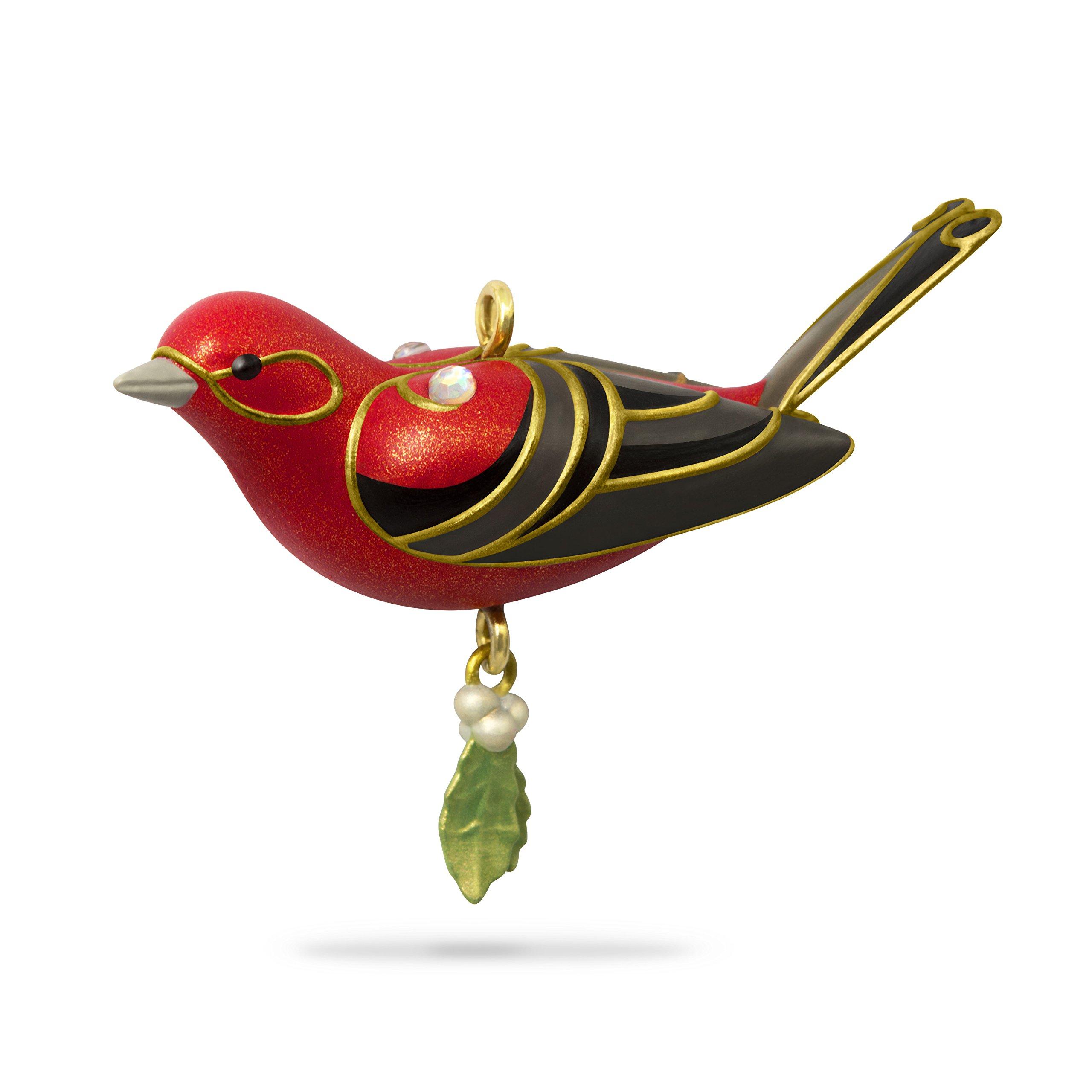 Hallmark Keepsake Christmas Ornament 2018 Year Dated: Hallmark 2018 Red Tanager Bird Miniature Ornament