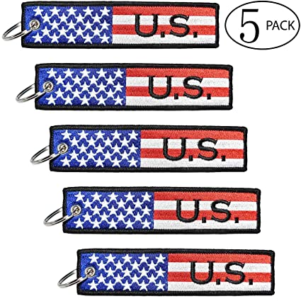 81ea320c883 FYZARFLY U.S. State Flags USA American Flag Key Chain Tag Luggage Tags US  Flag Souvenir for Motorcycles