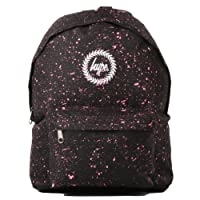 Hype Backpack Rucksack Bag - Speckled, Plain, Patterned - Various Colours, Black - Pink, One Size