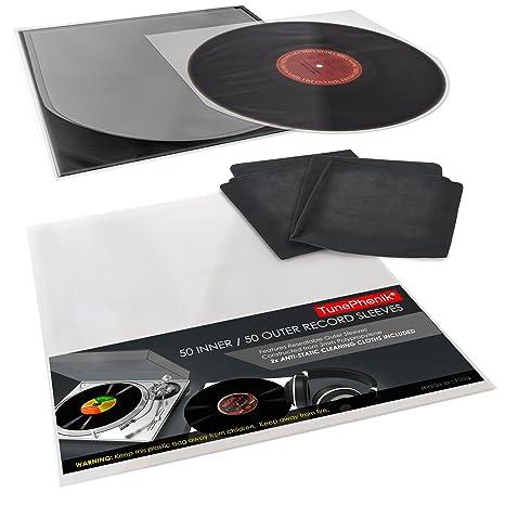 amazon com tunephonik clear 12 inch vinyl record sleeve set incl