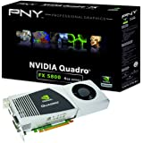 NVIDIA Quadro FX 5800 by PNY 4GB GDDR3 PCI Express Gen 2 x16 Dual DVI-I DL DisplayPort and Stereo OpenGL, DirectX, CUDA, and OpenCL Profesional Graphics Board, VCQFX5800-PCIE-PB