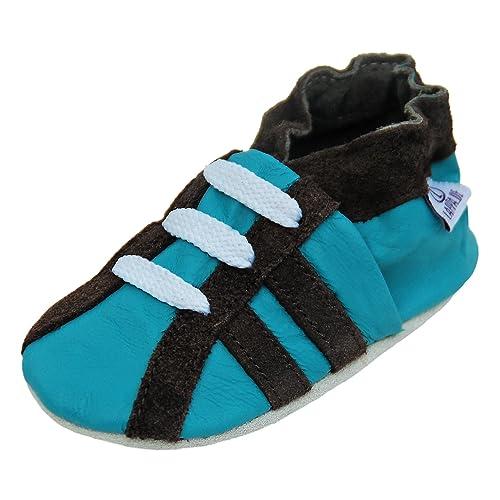 a712e05ec4 Scarpine in pelle pantofole scarpe neonato con suola in gomma gr.19-31  lappa.de