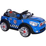 Mini Convertible Style Kids Ride On with Rechargeable Battery (Blue)