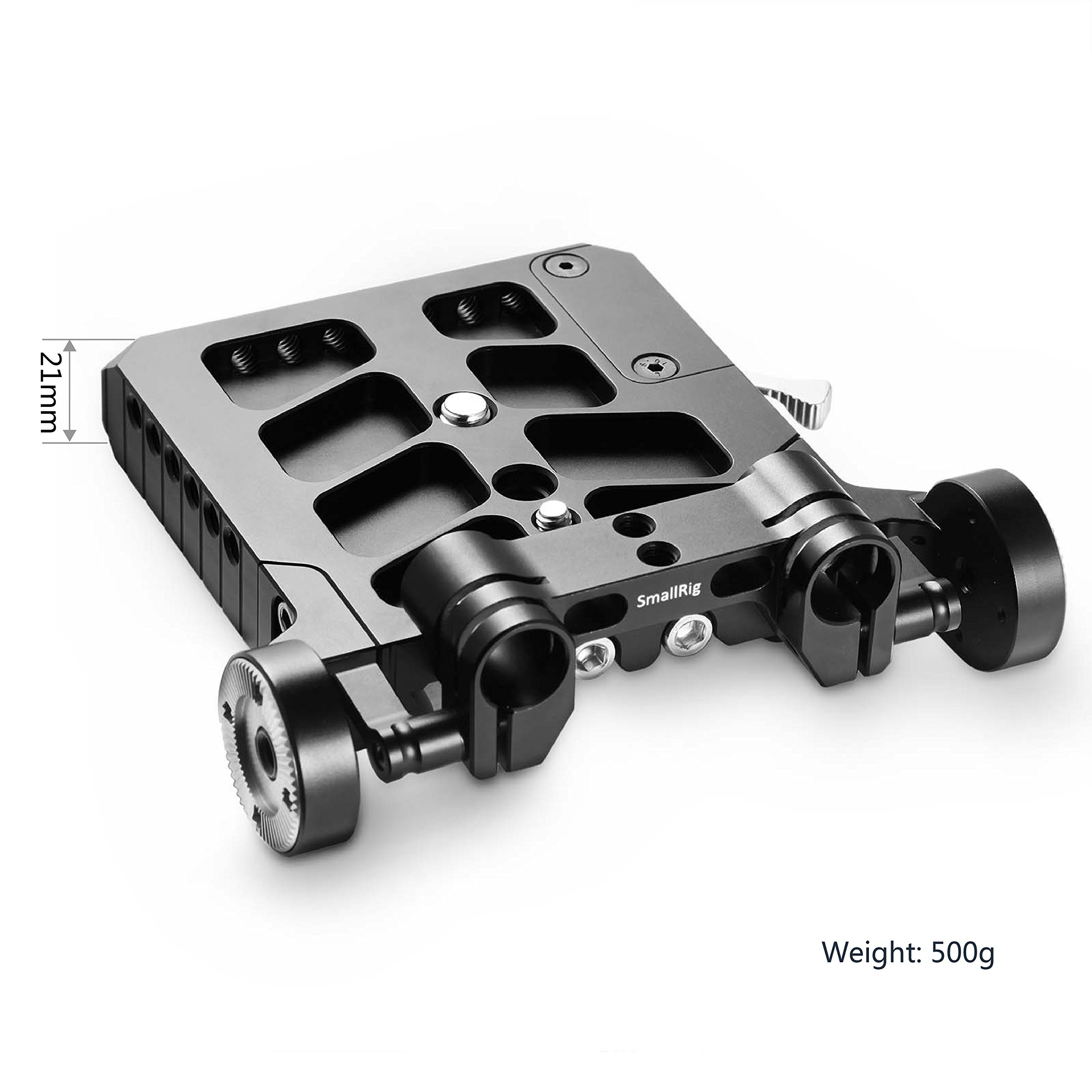 SMALLRIG 1998 Multi-Functional Baseplate with Rosette Rod...