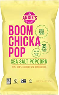 product image for Angie's BOOMCHICKAPOP Sea Salt Popcorn, 4.4 Ounce Bag (Pack of 12 Bags)