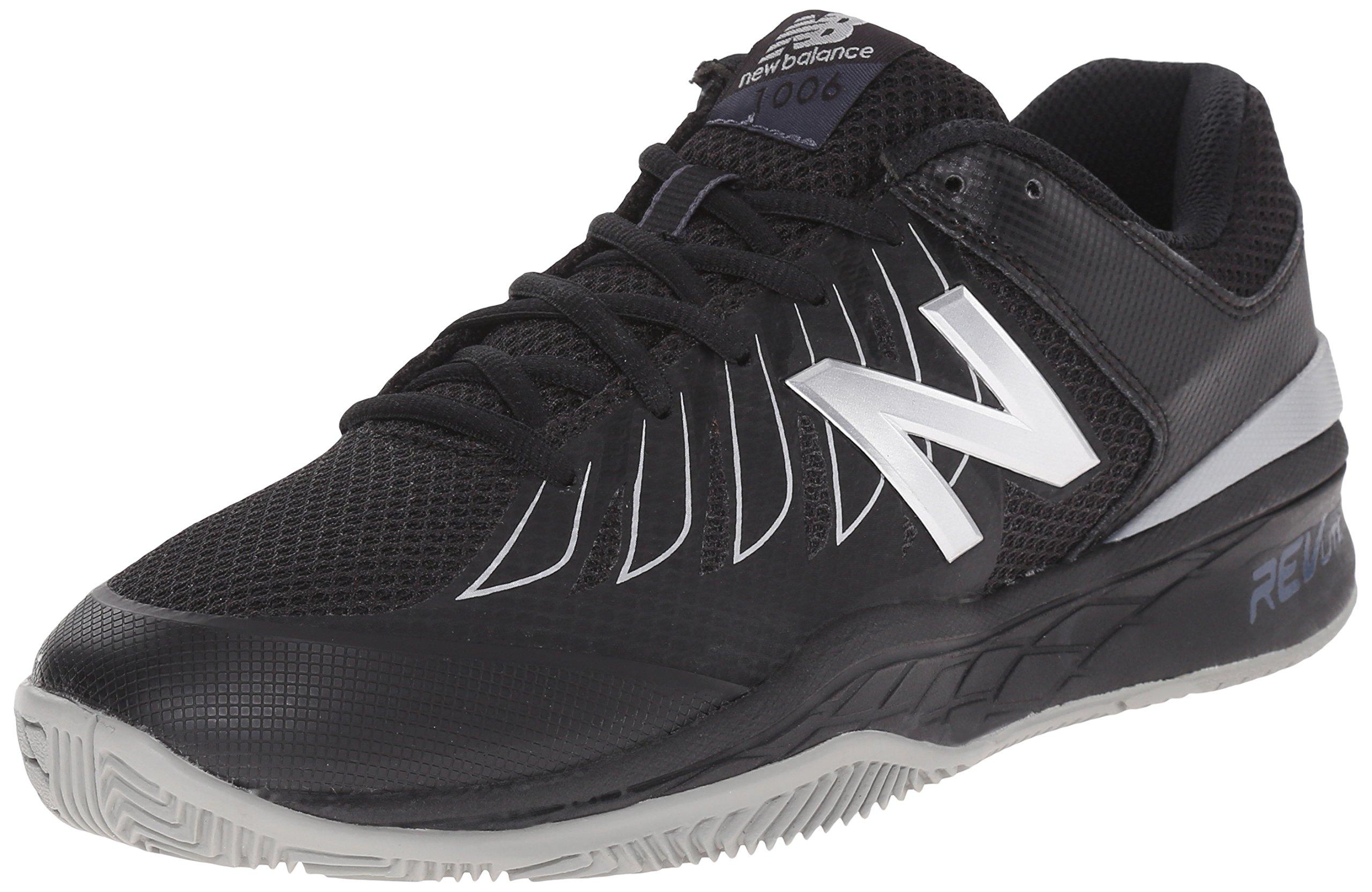 New Balance Men's MC1006V1 Black/Silver Tennis Shoe - 12 D(M) US