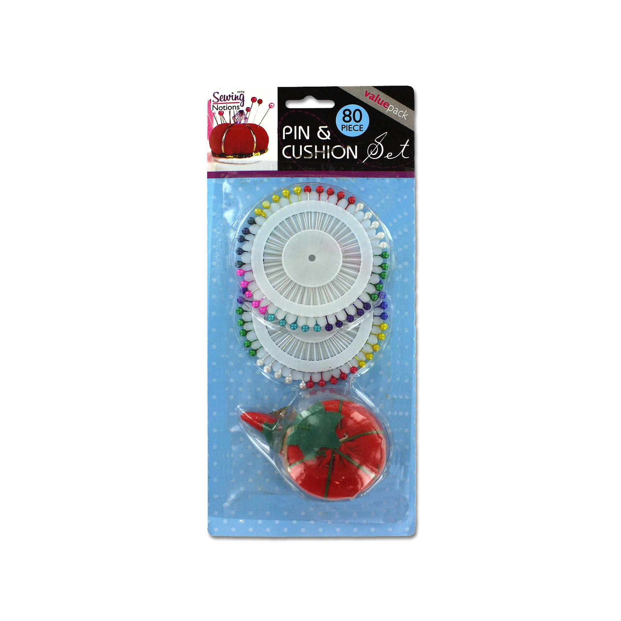 123-Wholesale - Set of 36 Pins & Cushion Set - Sewing & Needlecrafts Pins & Pin Cushions by 123-Wholesale