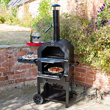 Bbq Pizza Oven.Wido Charcoal Pizza Oven Smoker Bbq Grill Wood Fired Outdoor Garden