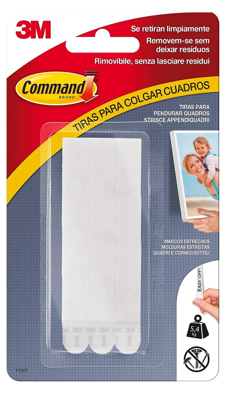 3M Command Strisce Appendiquadri Adesive per Cornici e Quadri, Misura S, Bianco UU001563392