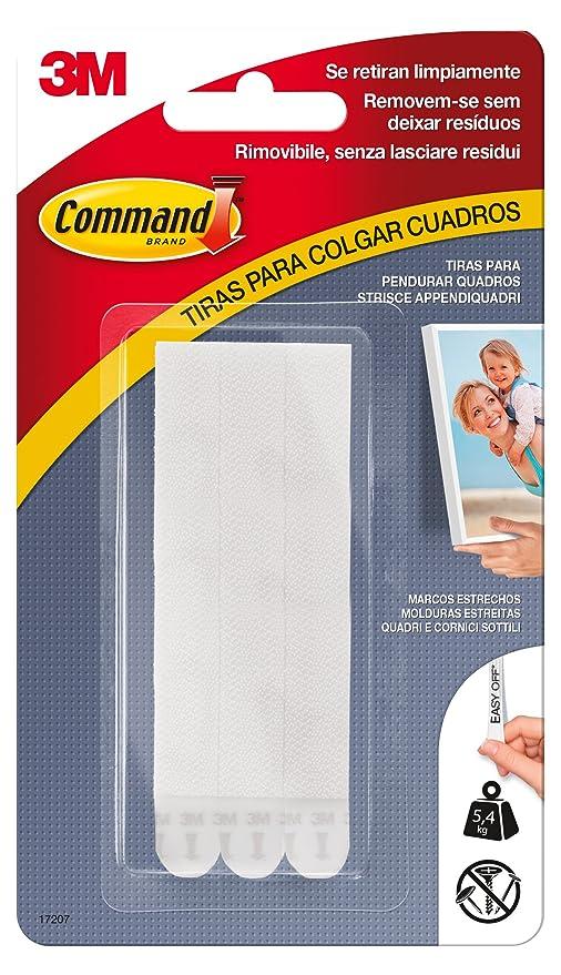 Command 17207 - Pack de 6 tiras para cuadros con marco (estrecho ...