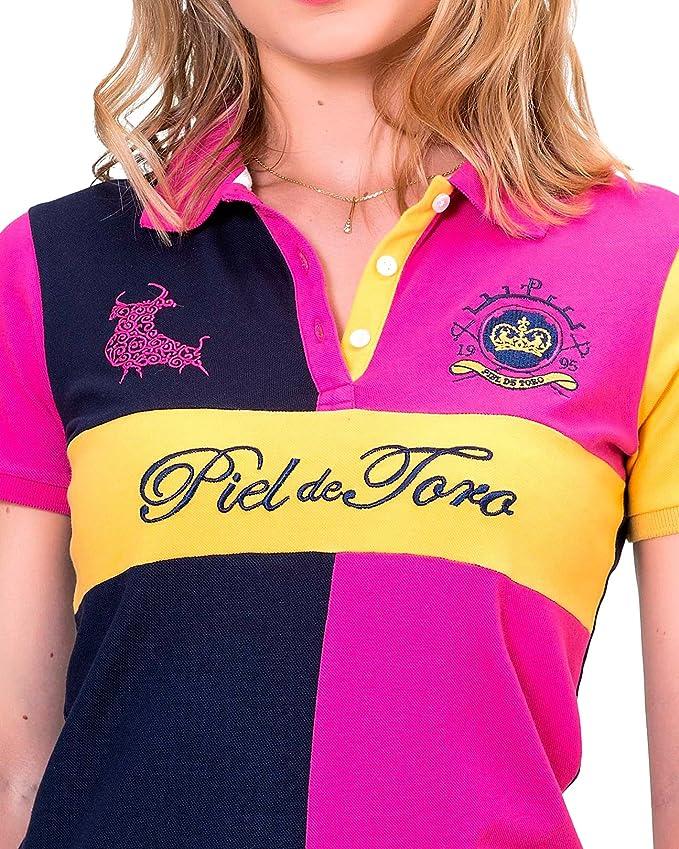 Piel de Toro Slim FIT TAURINO Tricolor con Parche EN Espalda Polo ...