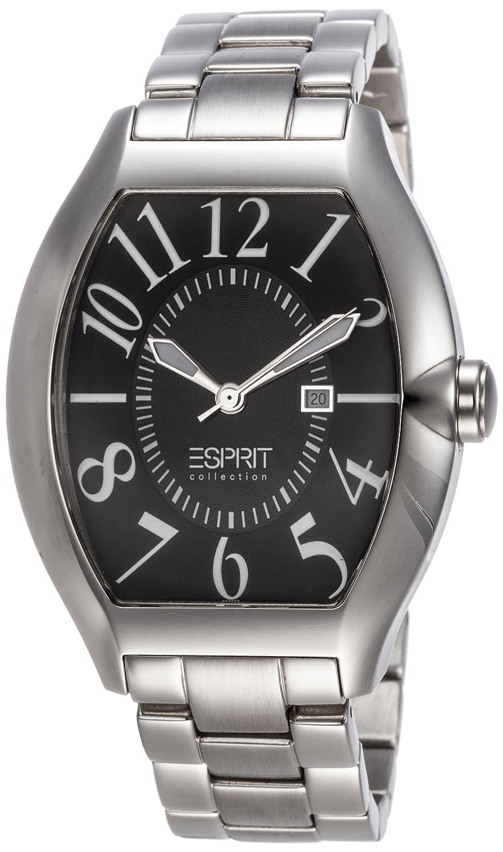 663b32aeb1546 Esprit Collection EL101081F06 Hector Men's Watch Analogue Quartz, Black  Dial, Silver Steel Strap: Amazon.co.uk: Watches