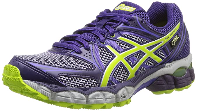 Asics Gel Pulse 6 G-Tx - Zapatillas de running para mujer, color D.Purp/Lime/Pur, talla 38: Amazon.es: Deportes y aire libre
