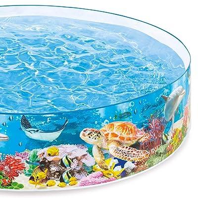 Intex Deep Sea Blue SnapSet Kiddie Swimming Pool: Toys & Games