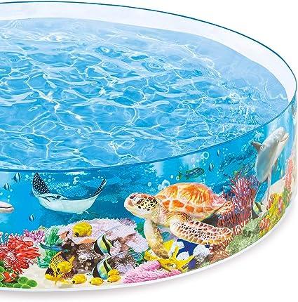 Amazon.com: Intex mar profundo azul Snapset Kiddie piscina ...