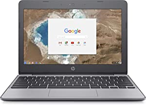 HP Chromebook 11-Inch Laptop, Intel Celeron N3060 Processor, 2 GB SDRAM, 16 GB eMMC Storage, Chrome OS (11-v000nr, Ash Gray)