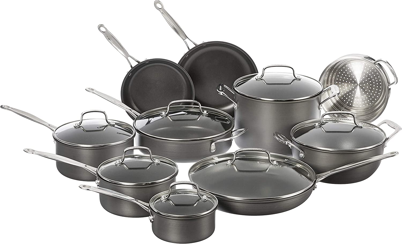 "Cuisinart 635-24 Chef's Classic Nonstick cookware set. Healthy Cookware: ""5 Tips on Cuisinart Pots & Pans"""