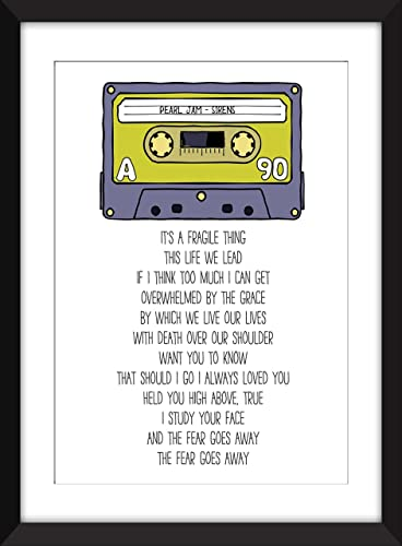 Amazon.com: Pearl Jam - Unframed Sirens Lyrics Print: Handmade