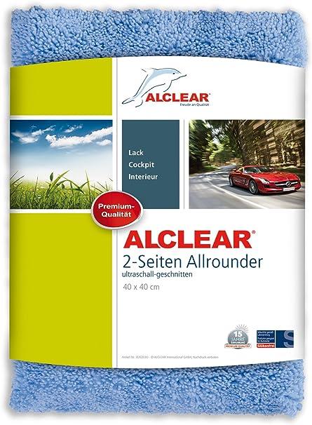 Alclear Microfaser Auto Poliertuch 2 Seiten Allrounder Auch Für Motorrad Poliermaschine Lackpolitur Detailing Mikrofasertuch 40x40 Cm Blau Auto