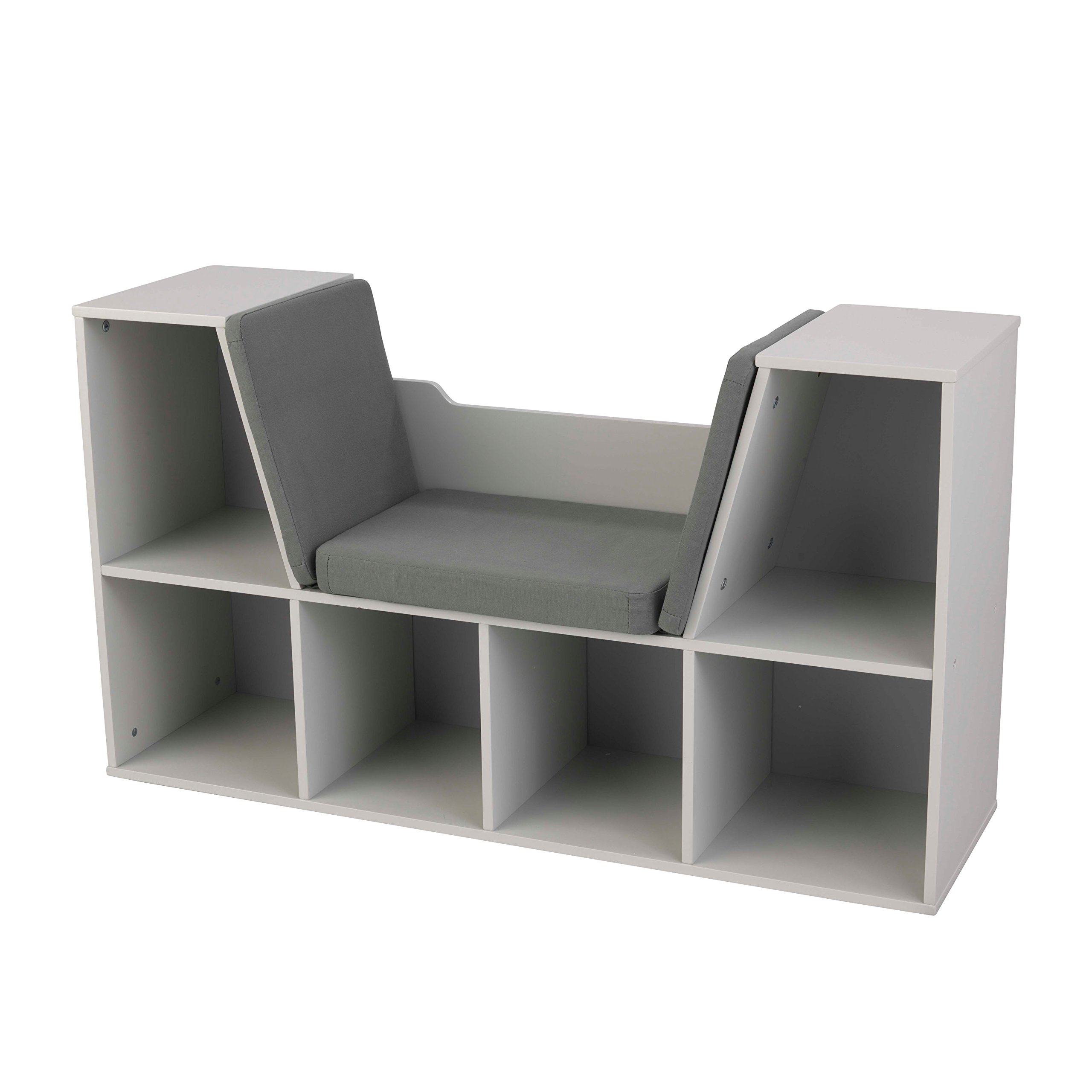 KidKraft Bookcase with Reading Nook Furniture, Gray