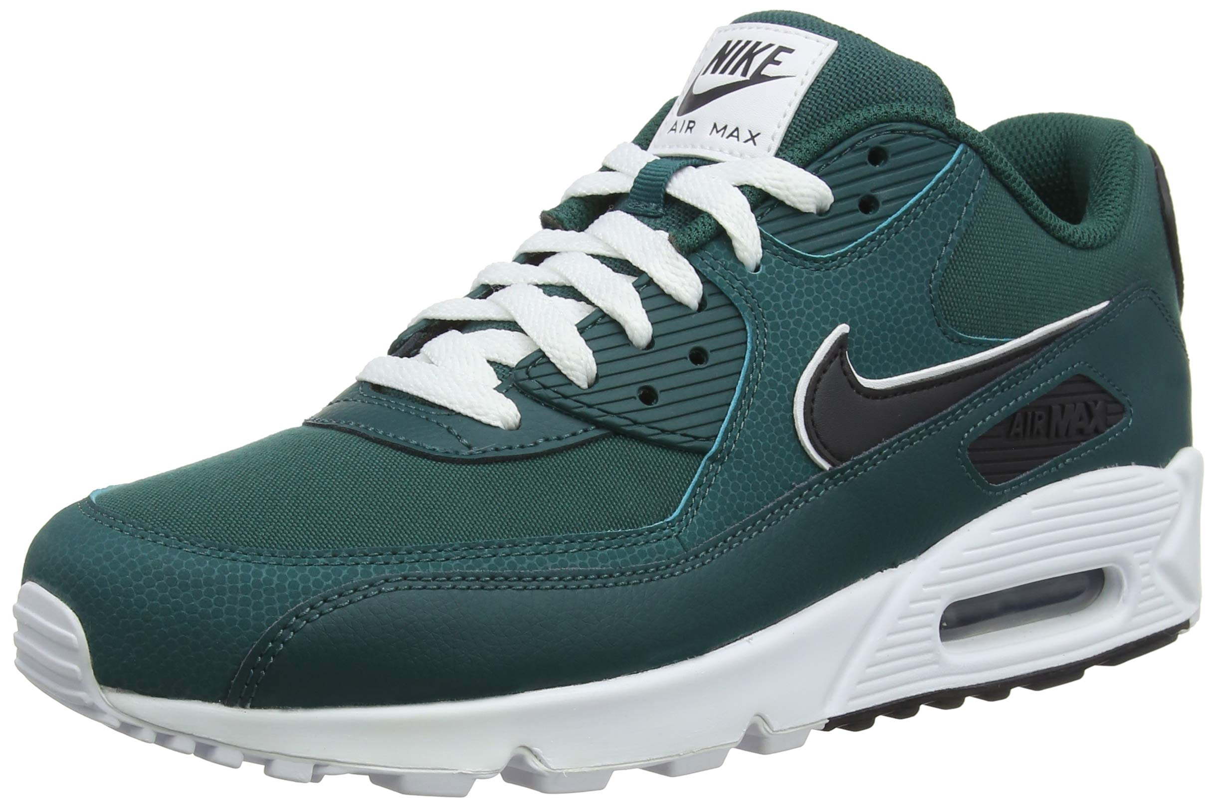watch 4b355 d5640 Galleon - Nike Mens Air Max 90 Essential Running Shoes Rainforest Oil  Grey White AJ1285-301 Size 12