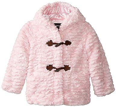 Amazon.com: Rothschild Little Girls' Faux Fur Toggle Coat Toddler ...