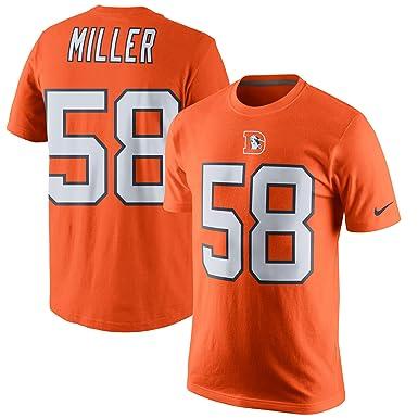 wholesale dealer 391db 68548 Amazon.com: NIKE Von Miller Denver Broncos Color Rush Player ...