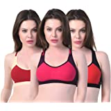 Alazne Casual Daily Wear Sports Bra for Girl's and Women's Combo (Pack of 3)