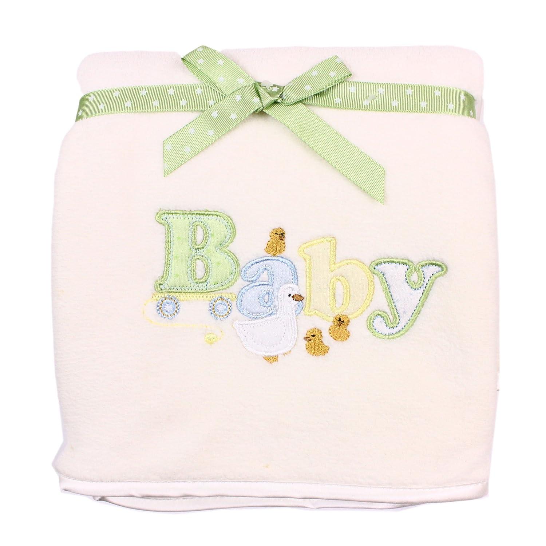 Amazon.com : Unisex-bebé recién nacido 2 capas extra manta gruesa ...