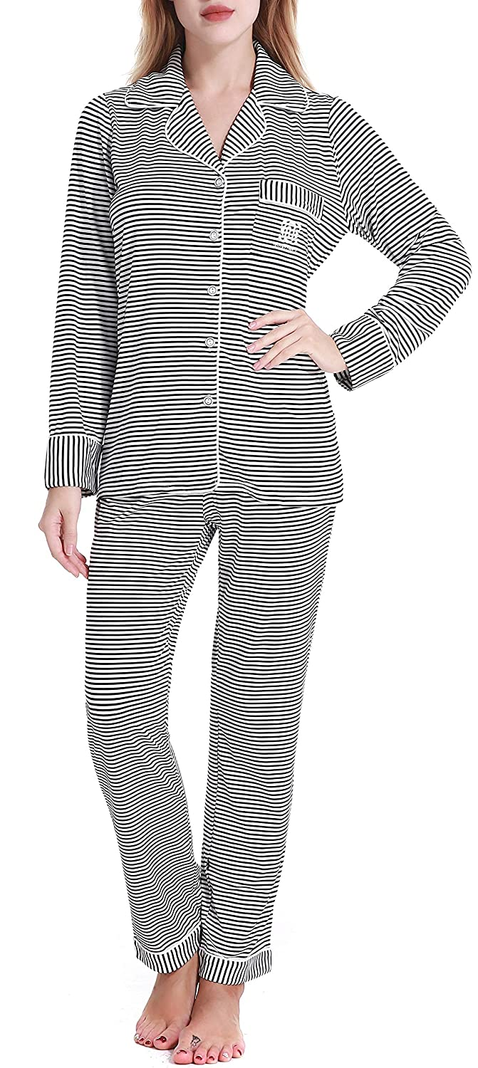 486b400231 N NORA TWIPS Pajamas Women s Long Sleeve Sleepwear Soft Pj Set at Amazon  Women s Clothing store