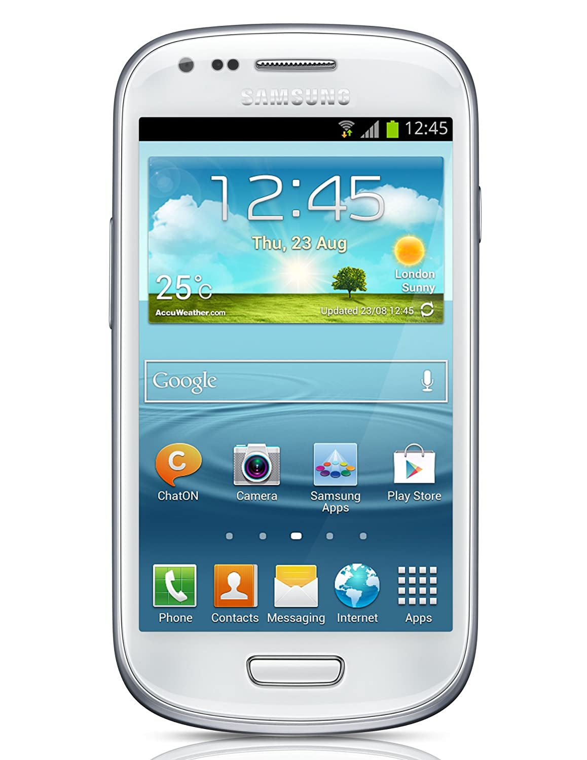 Samsung Galaxy S III Mini I8190 8GB Unlocked GSM Phone with Android 4.1 OS, Dual Core, Super AMOLED Touchscreen, 5MP Camera, GPS, NFC, Wi-Fi, ...